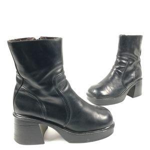 🍎VTG 90s Y2K Steve Madden Platform Chunky Boots
